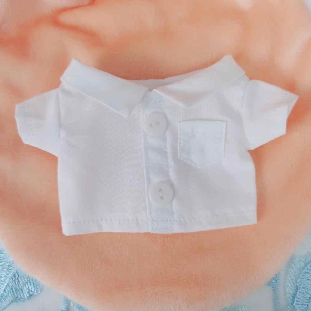 무료 배송 20cm 아이돌 인형 복장 Kpop EXO 백현 강 다니엘 정국 봉제 인형 옷 셔츠 탑 장난감 인형 액세서리