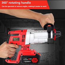 20V Electric Impact Hammer Drill Cordless Lithium Battery Brushless Motor Rechargeable Power Perforator Tool
