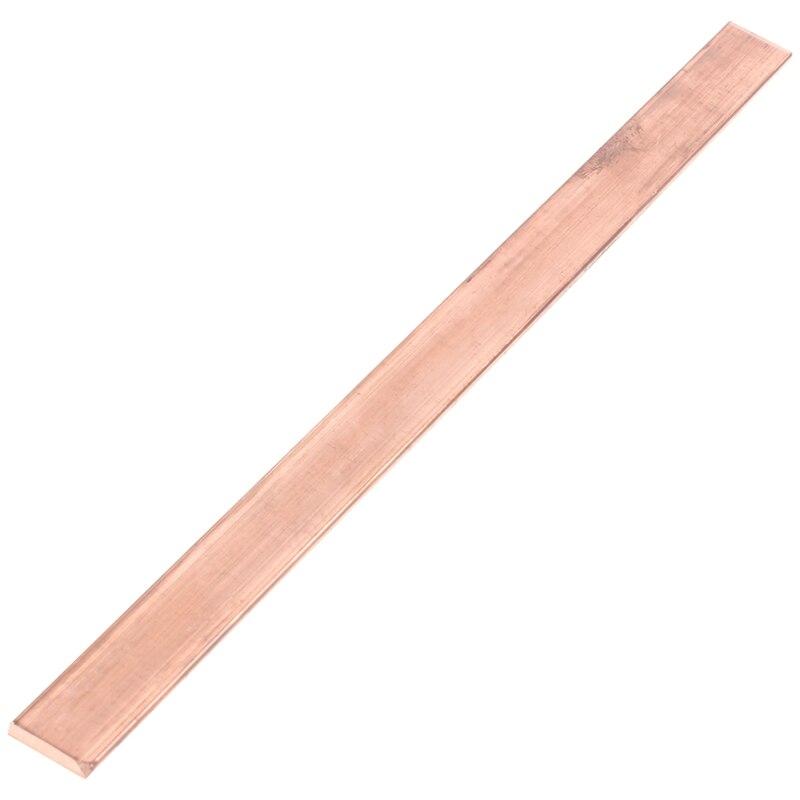 99.6% T2 Purple Copper Cu Flat Bar Plate 3mm X 15mm X 250mm Metal Strip