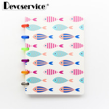 A6 Color Pattern Students Notebook School Office Stationery Supplies Loose-leaf Notebooks Multifunctional Detachable Notebooks