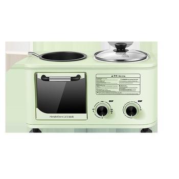 Wielofunkcyjny ekspres do śniadania toster toster piekarnik elektryczny maszyna śniadaniowa piekarnik domowy toster Sandwich piekarnik 220V tanie i dobre opinie OLOEY 400 w 220 v CN (pochodzenie) Sterowanie czasowe mechaniczne METAL Patelnia Owsianka gotowania Push-Button 256*245*392