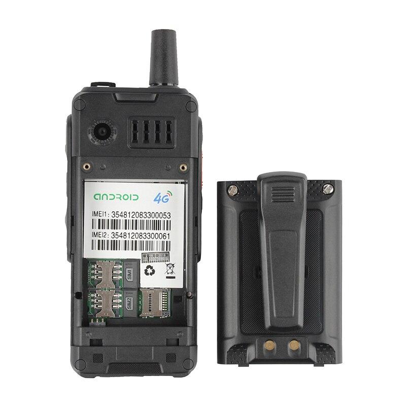 Téléphone portable antichoc 4000mAh Zello talkie walkie 4G GPS Smartphone robuste Android 6.0 Quad Core double SIM F40 téléphone portable - 5