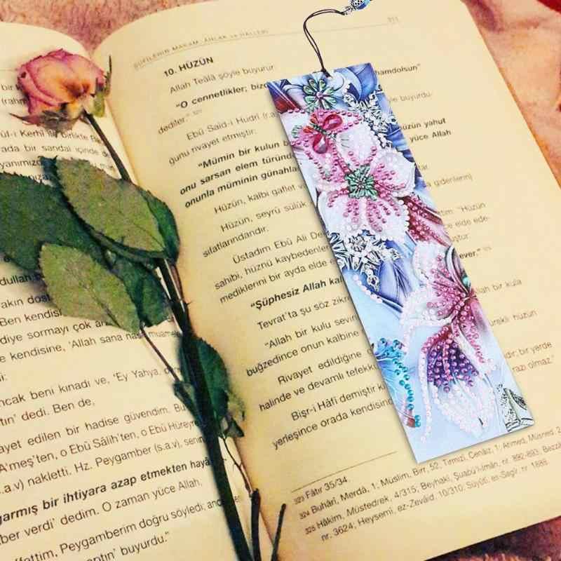Diy Diamant Schilderen Bookmark Speciale Vormige Diamant Schilderen Leer Boek Marks Met Kwastje Studenten Diy Bladwijzers Ambachten