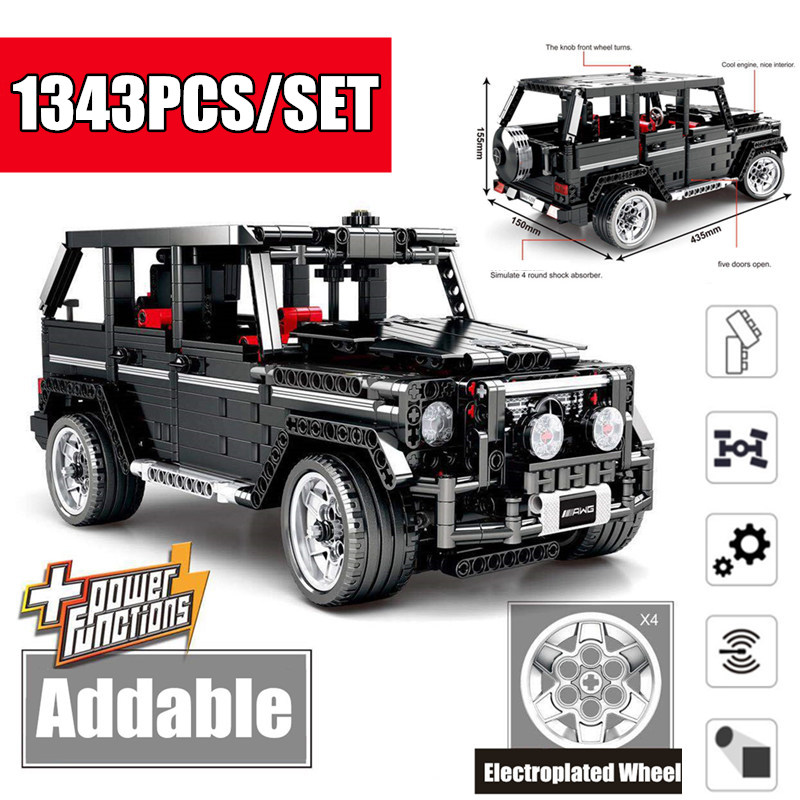 <font><b>701960</b></font> New G-Class Technic Series SUV G500 Off Road AWD Vehicles Car Fit Technic Car Model Building Blocks Bricks Toy image