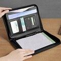 Многофункциональная А5 сумка на молнии для документов папки с калькулятором на молнии из искусственной кожи папка на молнии для документов