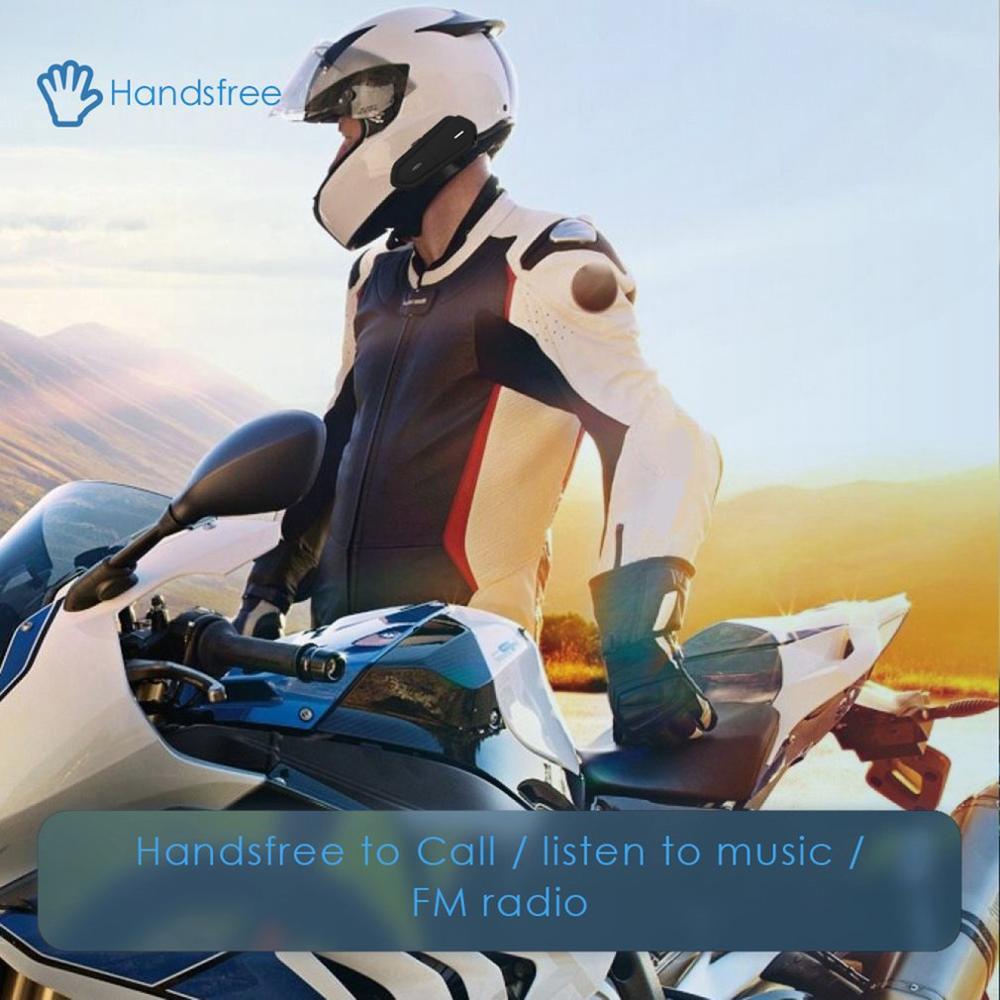 Black Earphone Waterproof Wireless Long Standby Helmet Headset Hands Free Easy Operation BT Motorcycle Energy Saving Music