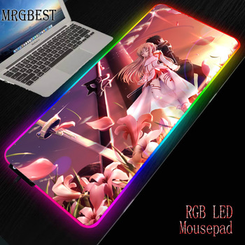 MRGBEST Sword Art Online Anime Asuna Table Large Lockedge Mouse Pad Game Mousepad Lock Edge Non-slip Keyboard Laptop  Mat L mrgbest beautiful anime fantasy forest non slip and durable rubber computer lockedge mat cartoon printing large game mouse pad