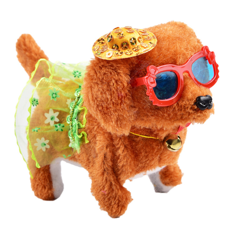 1PCS Electric Walking Glowing Barking Dog Funny Simulation Moving Appease Baby Toys With Music Light Education Robotic