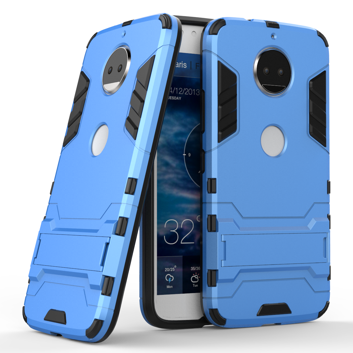 3D Shockproof Armor Cases For Motorola MOTO Z2 Play G6 Plus Play G5S G5 E5 Plus TPU Protective Hard Phone Cover Stand Shell