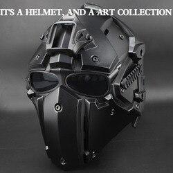Tactical Completa Viso Airsoft Maschera di Paintball Esercito Militare Regolabile di Protezione CS Gioco Maschera Casco Tattiche