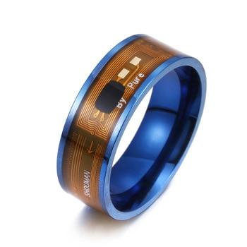 Nfc Smart Ring Nieuwe Technologie Waterdichte Titanium Staal 316L Roestvrij Stalen Ring Heren Sieraden Man Ring Telefoon Smart Accessoires