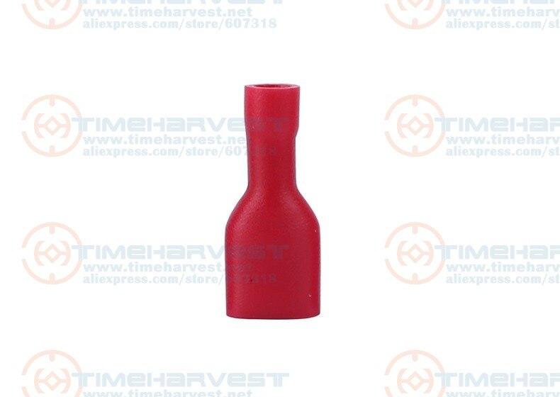 1000 шт./пакет 6,3 мм женское повседневное красное пуховое пальто длинный утепленный быстросъемный разъем обжимная Клемма FDFD2-250 для жгут проводов для JAMMA провода кабеля