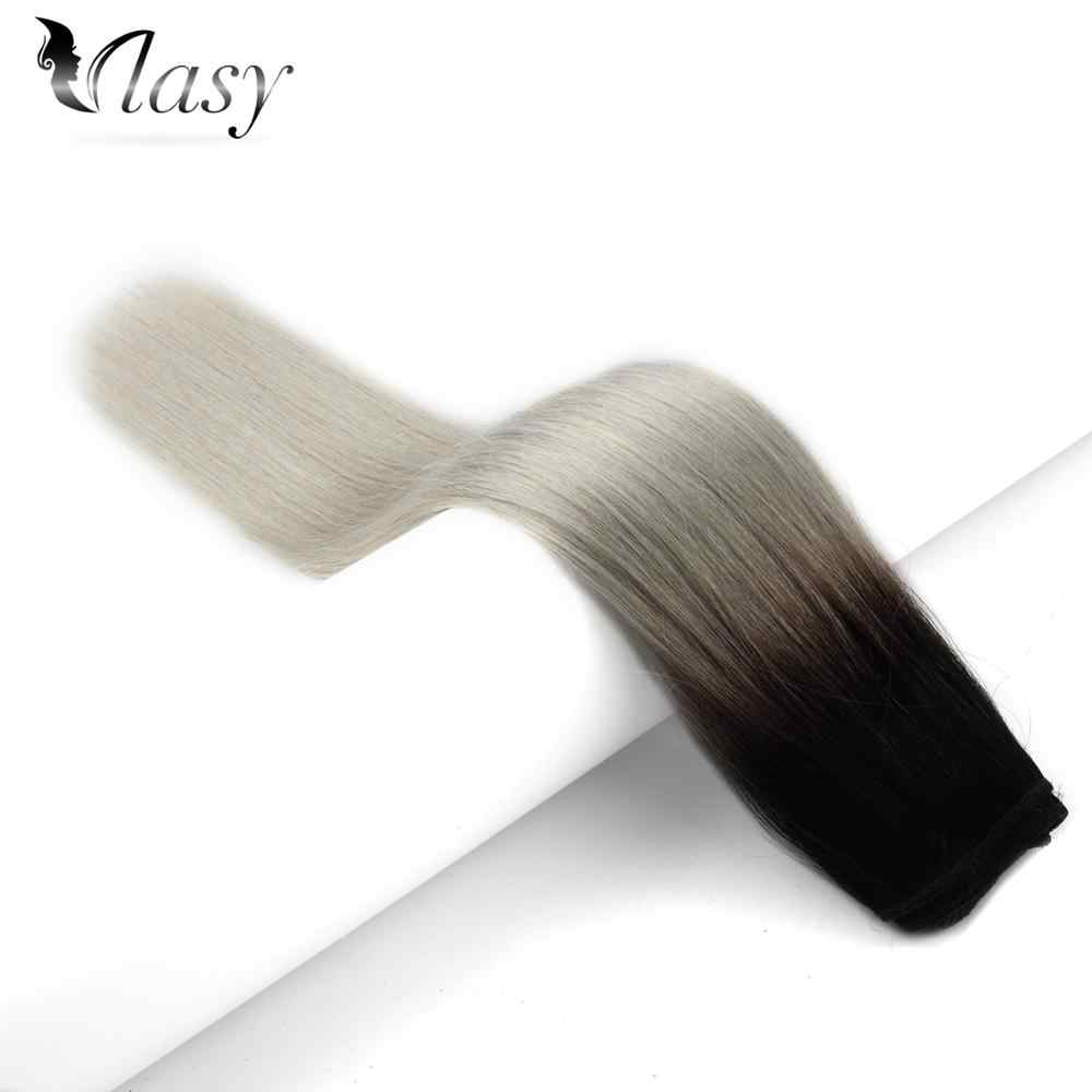 Vlasy 16'' 18'' 20'' 22'' 24'' Machine Made Remy Hair Weft 100% Human Hair Weave Bundles T1B-Grey# 100g/pc