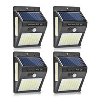 1-4 Uds 20/30/100 LEDs Sensor de luz por movimiento PIR Solar para exteriores luz Solar para jardín ahorro de energía farola lámpara de pared farola