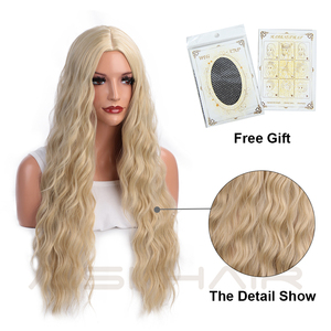 Image 5 - AISI HAIR  Long Wavy Blonde Wigs Black and Brown Natural Hair Heat Resistant Synthetic Wigs for Women African American