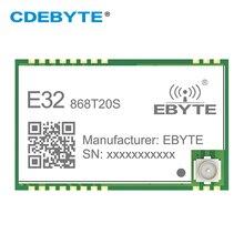 SX1276 LoRa 868MHz 100mW SMD беспроводной приемопередатчик CDEBYTE E32-868T20S 868 mhz ttl дальний IPEX передатчик и приемник