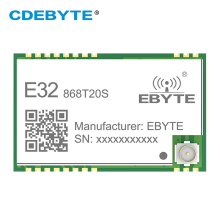 SX1276 LoRa 868MHz 100mW SMD Wireless Transceiver CDEBYTE E32-868T20S 868 mhz TTL Long Range IPEX Transmitter and Receiver 868mhz sx1276 lora 100mw serial port wireless transceiver e32 868t20d 868 mhz iot module rf transmitter receiver sma connector