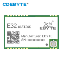 SX1276 LoRa 868MHz 100mW SMD bezprzewodowy Transceiver CDEBYTE E32-868T20S 868 mhz TTL daleki zasięg nadajnik i odbiornik IPEX tanie tanio CN (pochodzenie)
