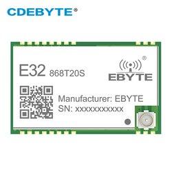 Sx1276 lora 868 mhz 100 mw smd transceptor sem fio cdebyte E32-868T20S 868 mhz ttl longa distância ipex transmissor e receptor