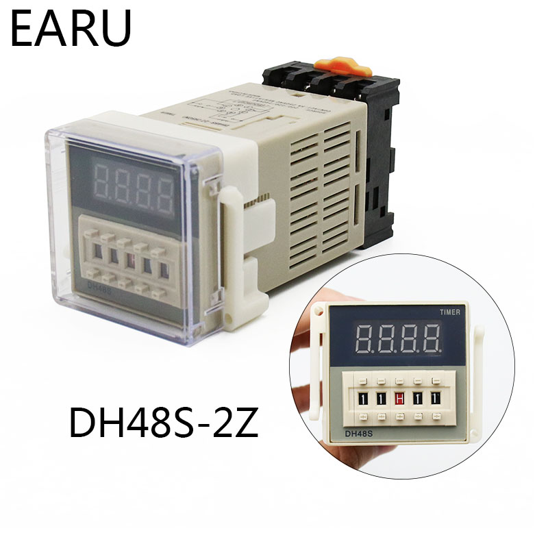 DH48S-S-2Z ProgrammableLED Delay Time Relay Timer 0.1S-99H 12V AC//DC//220VAC 2W