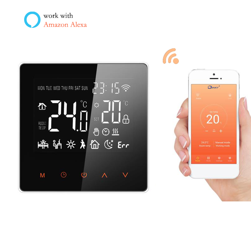 WiFi Programmable Room Thermostat Home Temperature Controller For Electric/water/boiler Underfloor Heating System