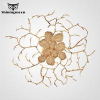 Copper Wall Lamp Brass Tree Branch Wall Light Modern Gold Luxury Wall Sconce Lamp Lighting for Living Dining Room Vanity Light