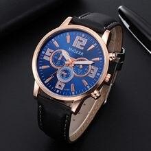 Montre moda luxo relógio masculino presente quartzo relógios de pulso relógio warterproof esportes couro relógio de pulso relogio masculino