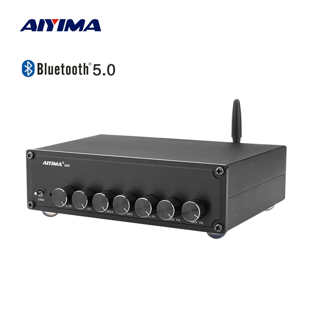 AIYIMA Home Theater 5.1 Amplifier 100W + 50WX5 Subwoofer Stereo Bluetooth TPA3116 Kelas D Digital Power HI FI Penguat Audio amp