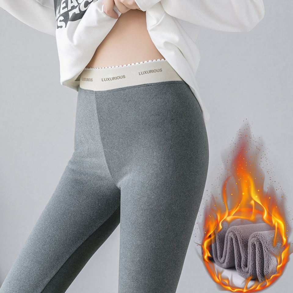2019 Autumn Winter Women Warm Leggings Soft Thick Velvet Slim High Waist Elastic Pencil Pants Plus Size M-4XL Female Leggings