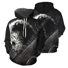 Пуловер leatherface модный спортивный костюм с круглым вырезом