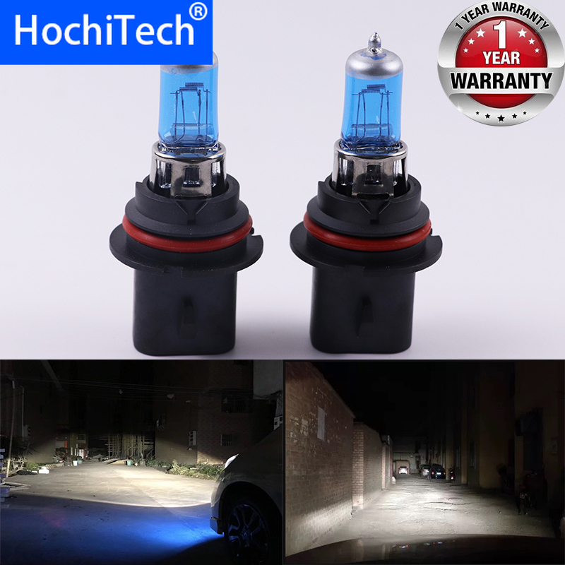 Car Headlight Super Bright Halogen Bulb 1PCS 9004 9007 HB1 12V 6000K Clear Fog Lights 3000Lm 100W Xenon Dark Blue Driving Lamp