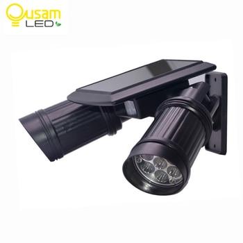 Outdoor LED Solar Licht PIR Motion Sensor Doppel Strahler Sicherheit Lichter Mit Batterie 14LED Dual Kopf Solar Garten Licht