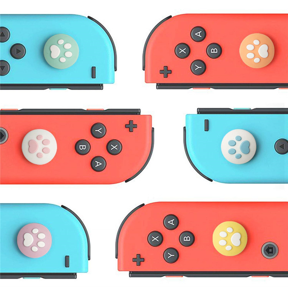 ZOMTOP Cute Cat Paw Pad for NintendoSwitch Lite Thumb Stick Grip for Nintend Switch Joy-Con Controller Gamepad Thumbstick Case