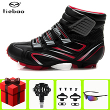 TIEBAO Winter Cycling Shoes sapatilha ciclismo mtb add SPD Pedal cleat set Men sneakers women Mountain Bike Riding Bicycle Shoes tiebao sapatilha ciclismo mtb cycling shoes winter men sneakers women mtb bicicleta mountain bike shoes warm bicycle shoes