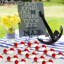 OurWarm 10pcs Life Saver Beer Bottle Openers Gifts For Guest Favors Wedding Souvenirs Baby Shower Nautical Party Decoration