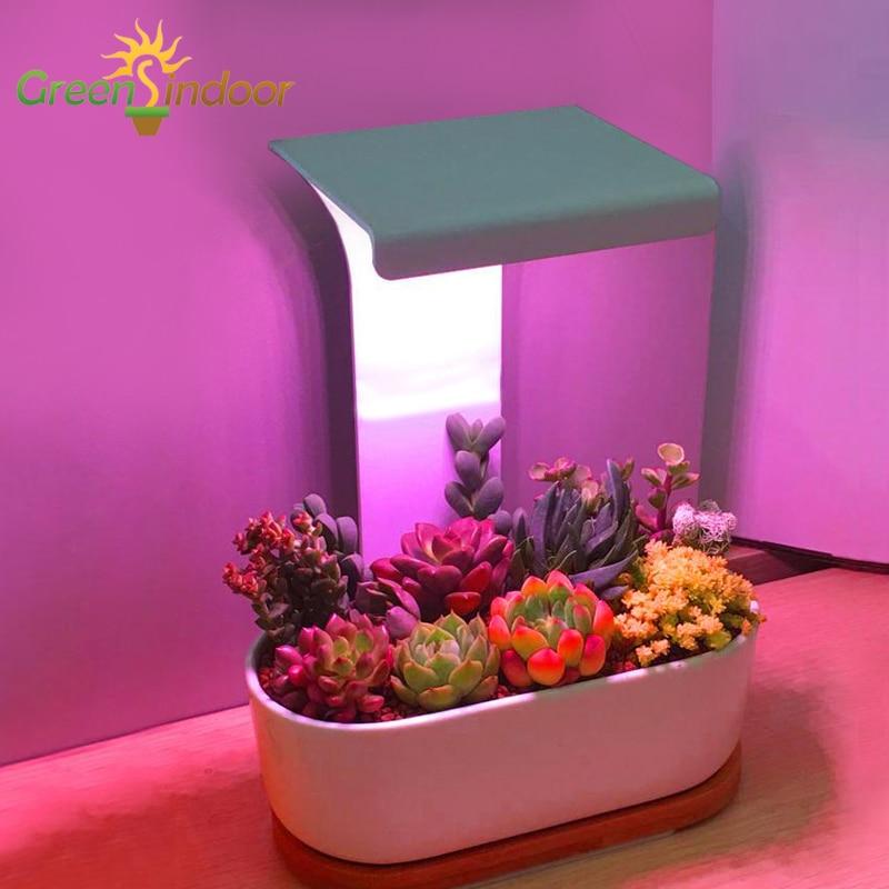 Светодиодная фитолампа с таймером, комнатный светильник полного спектра с USB для растений, суккулентов, цветов, кактусов, IR VU, настольная лам...