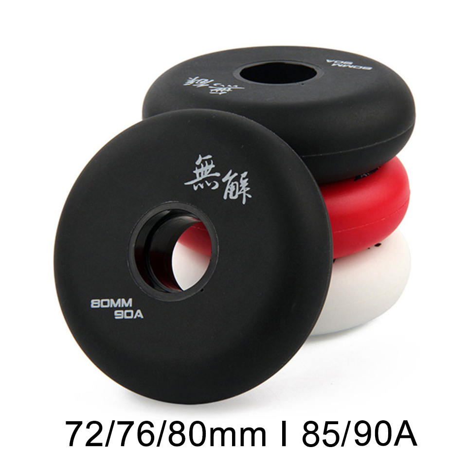 80mm 76mm 72mm 85A 90A Inline Roller Skates Wheels for Kids Adult Men Skating for Slalom