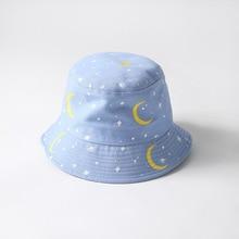 Moon star fresh fisherman hat men and women Autumn street hipster travel Bucket caps Women