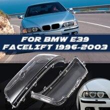 Paar Scheinwerfer Abdeckung Shell Scheinwerfer Glas Objektiv Für BMW E39 Facelift 1996 - 2000 2001 2002 2003 63128375301 63128375302