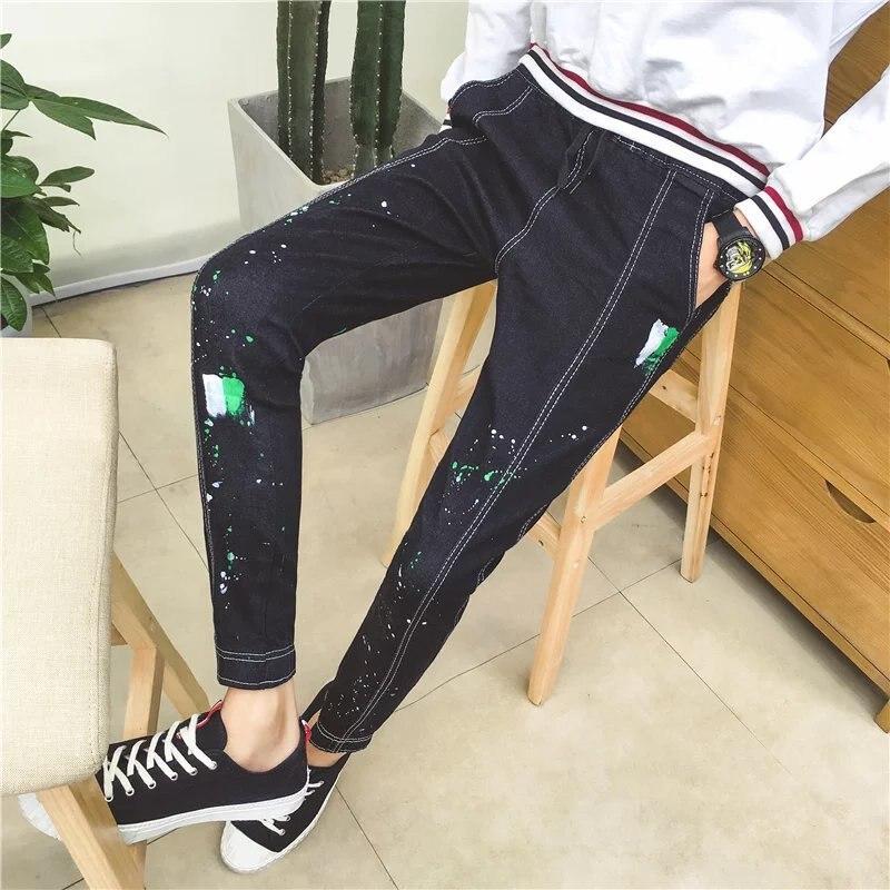 2017 New Style Autumn New Style Jeans Korean-style Slim Fit England Fashion Men Men's Jeans