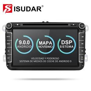 Isudar samochodowy odtwarzacz multimedialny 2 Din Android 9 Radio samochodowe dla Skoda/Seat/Volkswagen/VW/Passat b7/POLO/GOLF 5 6 DVD GPS 4 rdzenie