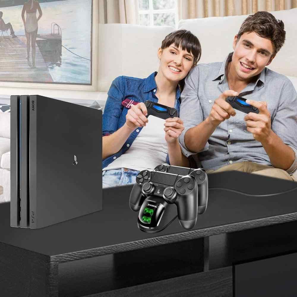 PS4 Controller Charger DualShock 4 CONTROLLER USB Pengisian Stasiun Dock, PS 4 Stasiun Pengisian untuk Sony PS4/PS4 Slim/PS4 Pro