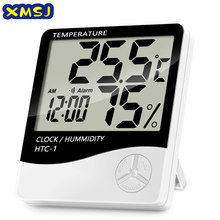 LCD Electronic Digital Temperature Humidity Meter Indoor Outdoor Thermometer Hygrometer Weather Station Clock