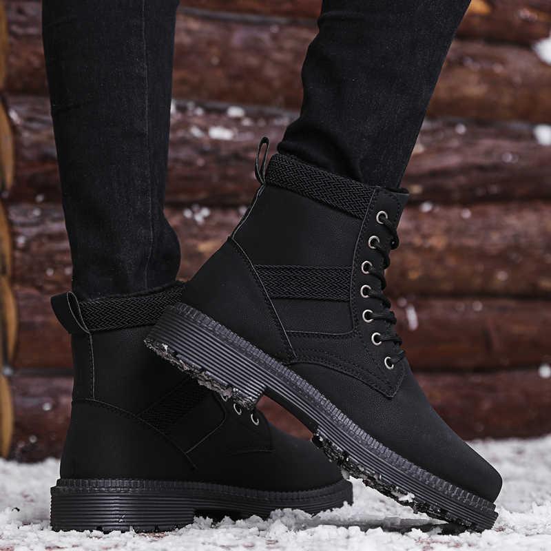 2019 invierno más botas de algodón para hombres botas Martin