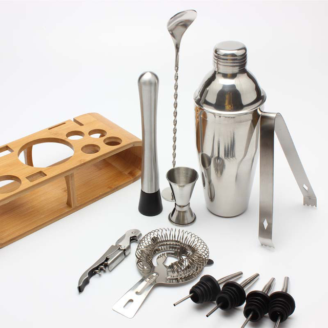 Stainless Steel Bar Cocktail Shaker Set  2