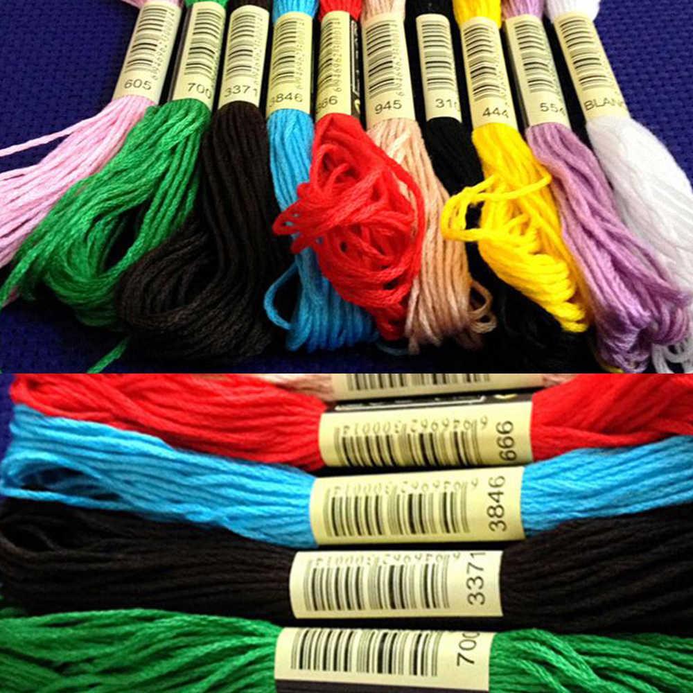 100 قطعة خيوط متفرعة لخط الحرير بنمط افعلها بنفسك مماثلة لخيوط Dmc خيط خيوط متقاطعة خيوط متقاطعة ملونة عشوائية