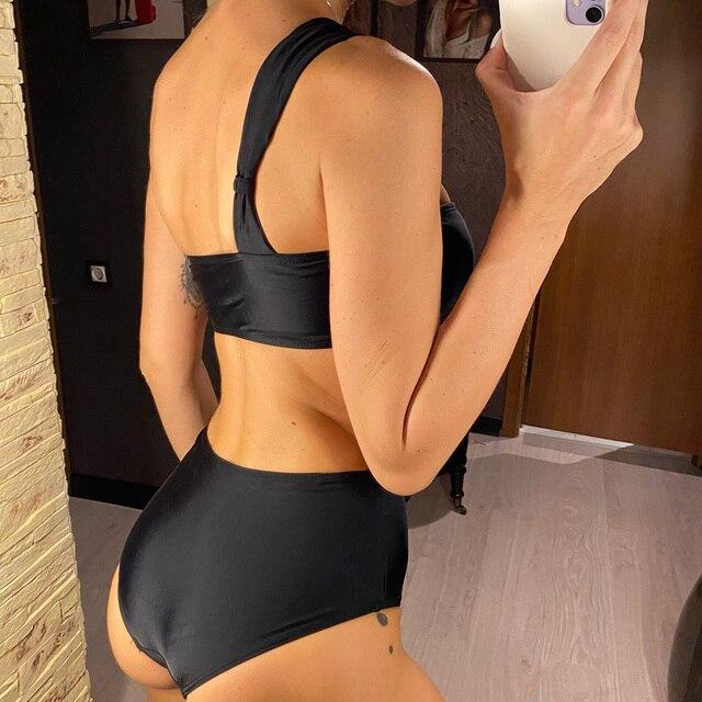 Black Bikini One Shoulder