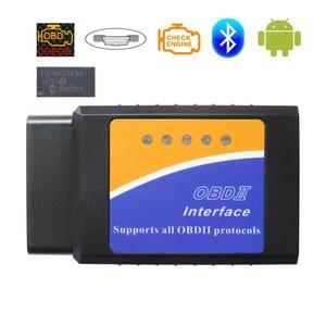 Image 1 - OBD2 Scanner V1.5 ELM327 Bluetooth Car Diagnostic Scanner For Android ELM 327 v 1.5 OBD 2 Auto Diagnostic Tools Real PIC18F25K80
