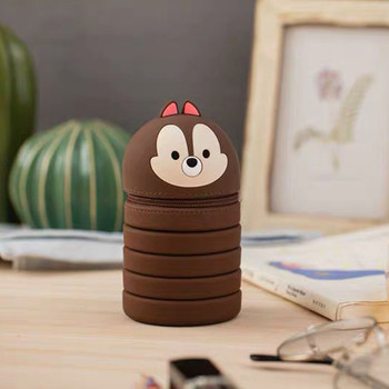 цена на Q UNCLE Decompression Pen Holder Honeymoon Cosmetic Bag Portable Cosmetic Key Storage Tube Zipper Pouch Silicone Makeup Case