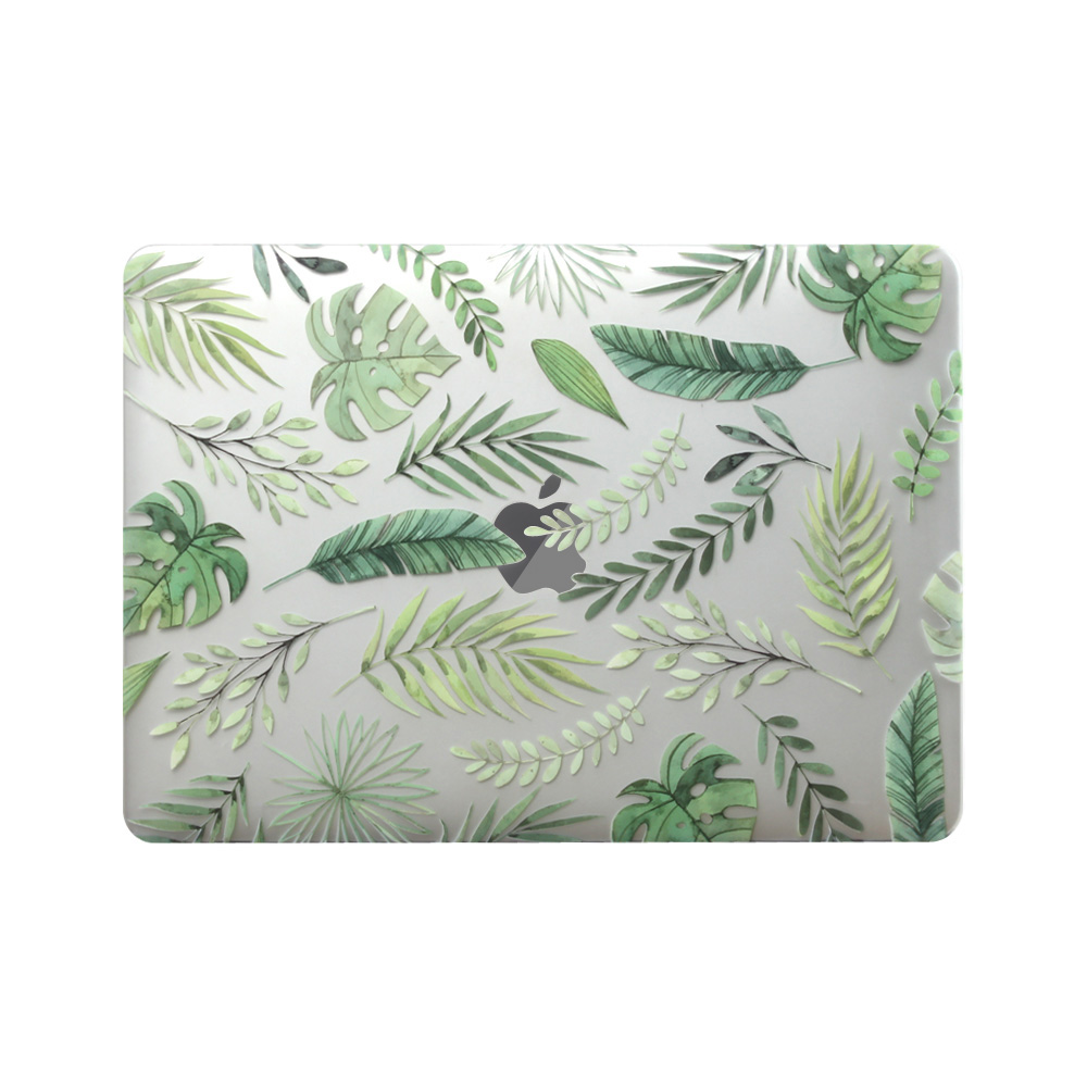 New 3D Printing Leaves <font><b>Case</b></font> For <font><b>MacBook</b></font> <font><b>Air</b></font> Pro Retina 11 12 <font><b>13</b></font> 15 Pro13.3 inch with Touch Bar +<font><b>Transparent</b></font> Keyboard Cover image